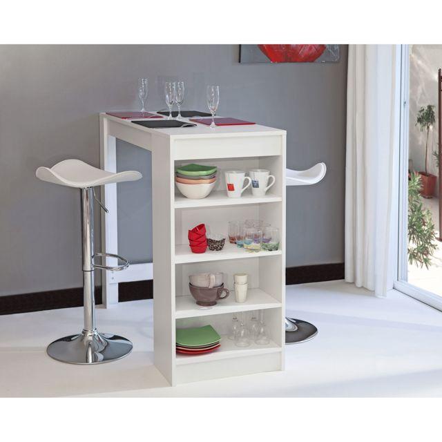 Symbiosis table de bar avec rangement pas cher achat - Table de bar avec rangement ...