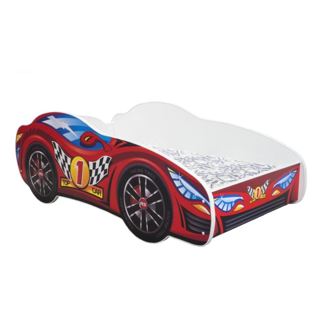 Other Lit pour un enfant - Racing Car - Red Car MATELAS Gratuit 140 x 70 cm