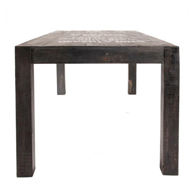 Tousmesmeubles table de repas rectangulaire 140 cm harlem pas cher achat vente tables for Carrefour table a manger