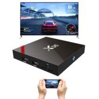 Wewoo - Android Tv Box Mini Pc noir 4K Hd Smart Tv Player avec télécommande, 7.1.2 Amlogic S905W Quad Core Arm Cortex A53 @ 2GHz, 2 Go + 16Go, Support WiFi et carte Tf