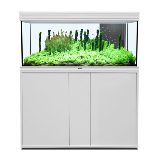 aquatlantis ensemble fusion aquarium meuble 120x40 blanc