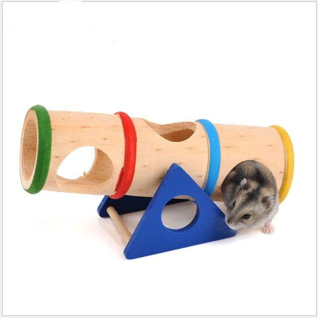 Wewoo Jouet pour Hamster Pet Rainbow Wood Tube