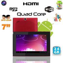 Yonis - Tablette tactile Android 4.1 7 pouces Quad Core éducative Wifi 24 Go