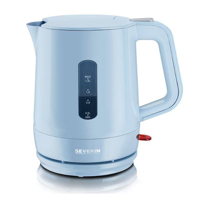 SEVERIN bouilloire électrique 1.2l 1500w bleu gris - wk9724
