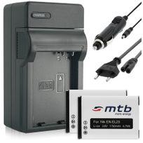 mtb more energy® - 2 Batteries + Chargeur Auto/Secteur, pour En-el23 / Nikon Coolpix Coolpix B700, P600, P610, P900, S810c