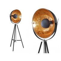 INSIDEART - Lampadaire cinéma industriel MOVIE - H. 166 cm - Bicolore intérieur cuivré extérieur noir de la marque INSIDE ART