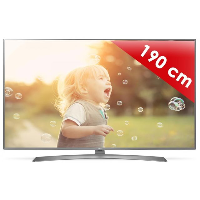 lg 75uj675v 189 cm smart tv led 4k uhd pas cher achat vente tv led de 66 39 39 et plus. Black Bedroom Furniture Sets. Home Design Ideas
