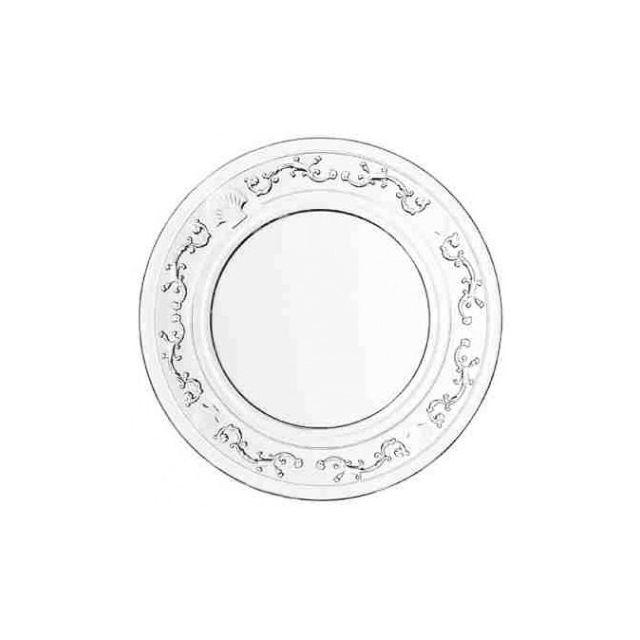 La Rochère Assiette plate en verre Ø 25cm - Lot de 6 - Versailles