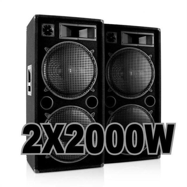 Ibiza Sound Pack 4000w avec 2 enceintes 2000w 100% canon