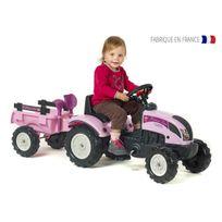 Falquet - Tracteur enfant Princesse Trac + remorque + accessoires Falk