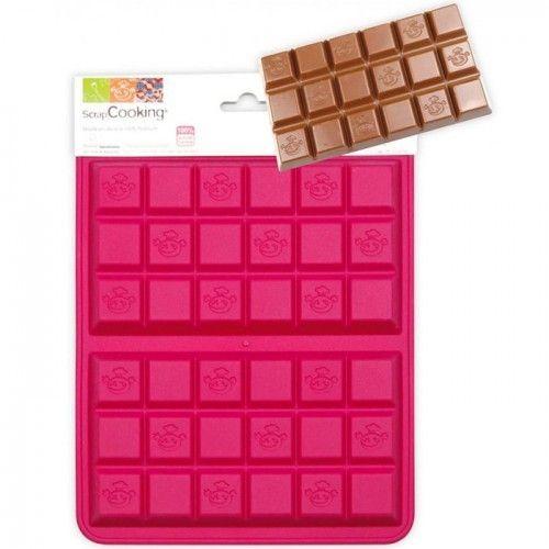 Scrapcooking Moule en silicone pour 2 tablettes de chocolat