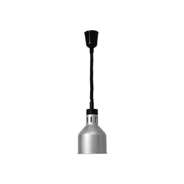 Buffalo Lampe Chauffante Retractable Finition Argent Pas Cher