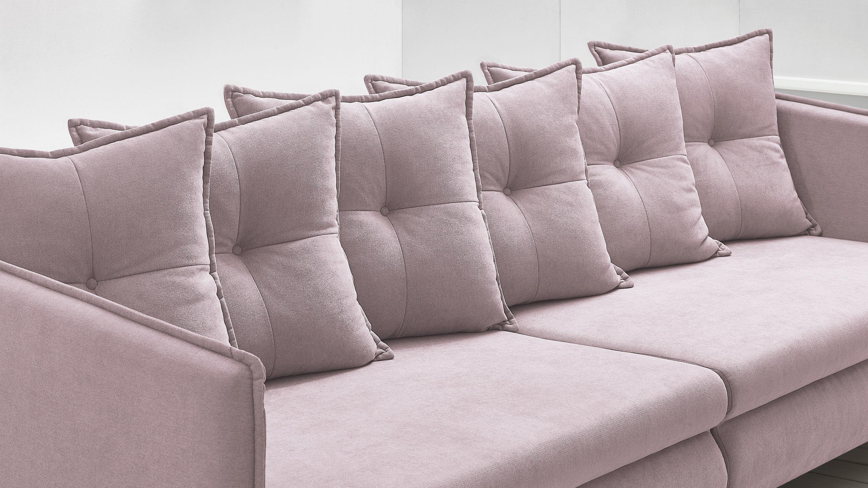 bobochic canap opti sofa 4 places convertible rose poudr achat vente canap s pas. Black Bedroom Furniture Sets. Home Design Ideas
