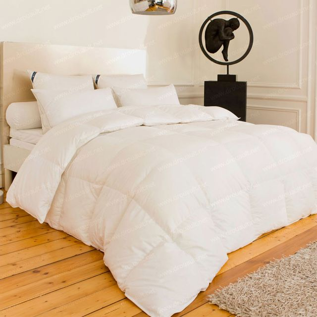 sensei la maison du coton couette naturelle 220gr m 90 duvet d 39 oie 10 plumettes pole. Black Bedroom Furniture Sets. Home Design Ideas