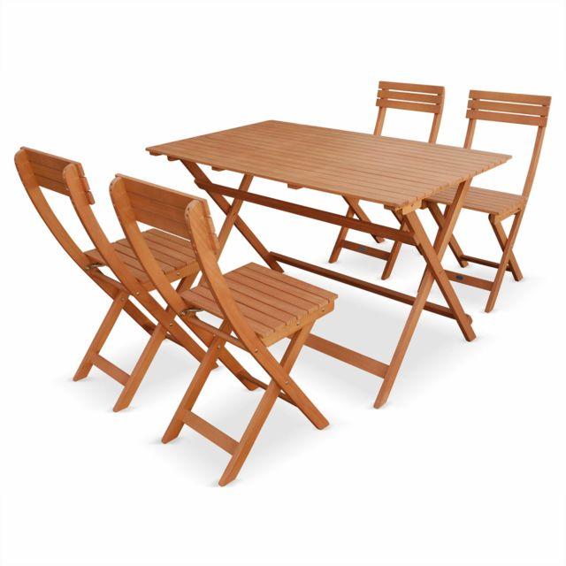 ALICE\'S GARDEN - Table de jardin en bois bistrot pliable ...