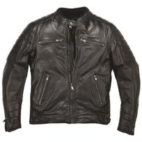 Helstons - Cruiser Leather Rag Black