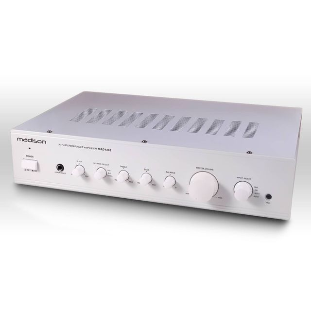 Madison Amplificateur Hifi Stéréo blanc 180 Watts Mp3 Mad1305WH