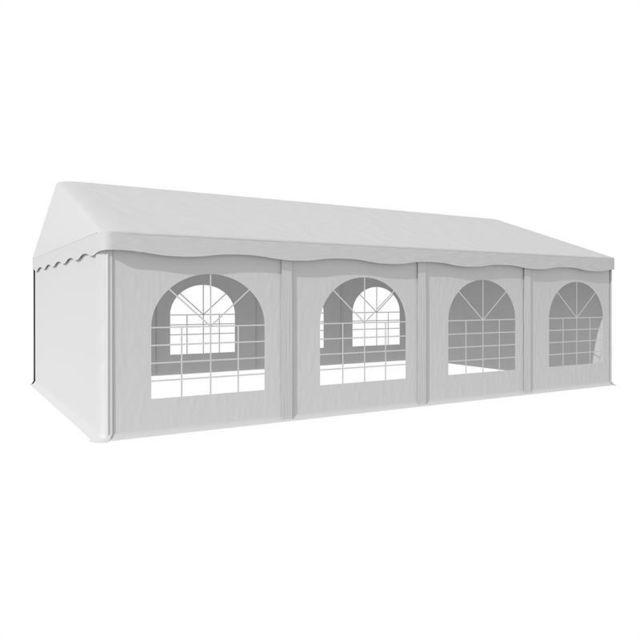 BLUMFELDT Sommerfest 5x8m 500 g/m² Chapiteau tente PVC étanche galvanisé