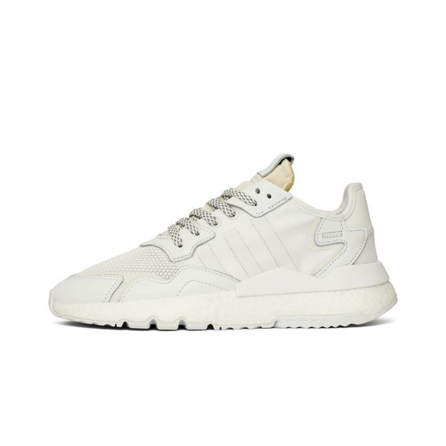 adidas nite jogger blanche homme