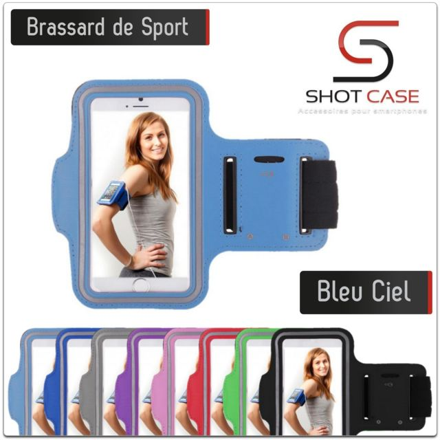+ Brassard Sport Iphone 8 Plus Shot Case Couleur Noir pour Courir Respirant Apple Housse Etui Coque T7