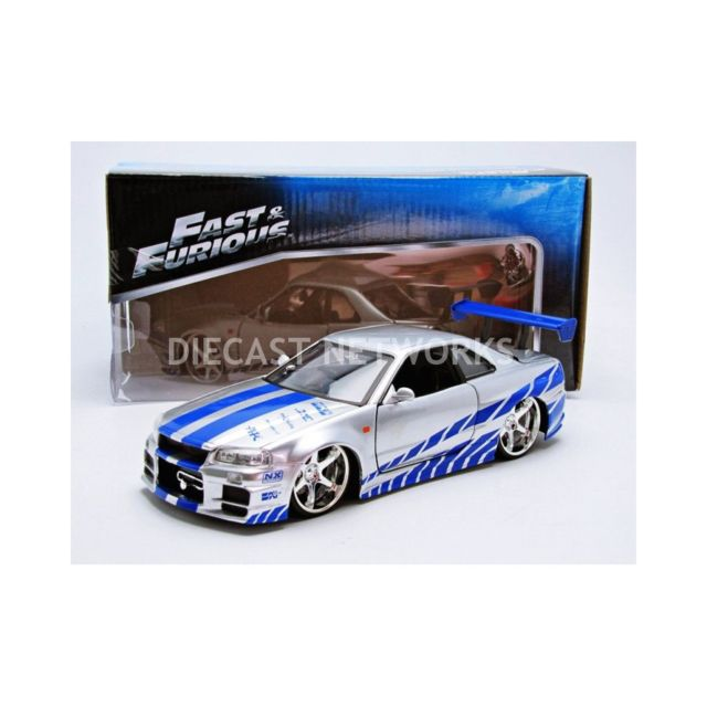 jada toys 1 24 nissan skyline gtr r34 fast and furious 97158s pas cher achat vente. Black Bedroom Furniture Sets. Home Design Ideas