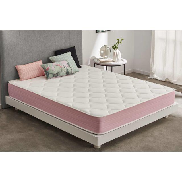 Moonia Matelas Pink Cloud Max - 80X180, 21Cm, Ergonomique / relaxation