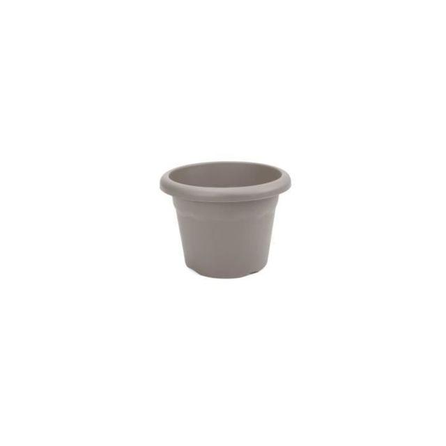JARDINIERE - BAC A FLEUR Pot a fleurs Ø 52 cm rond - Taupe