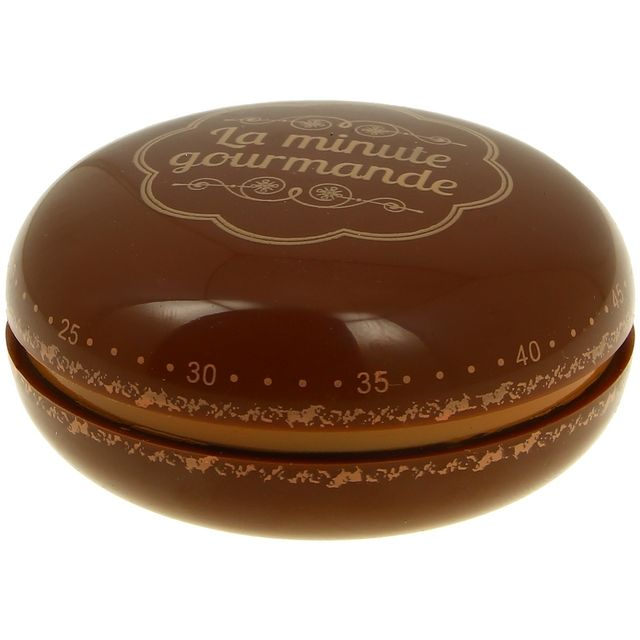 Promobo Minuteur Cuisine Forme Macaron Design Gourmand Chocolat