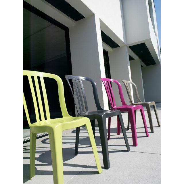 Grosfillex - chaise miami bistrot - lot de 2 - vert anis ...