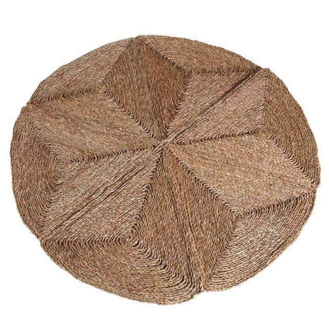 aubry gaspard tapis rond en jonc naturel pas cher achat vente tapis rueducommerce. Black Bedroom Furniture Sets. Home Design Ideas