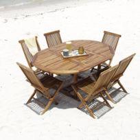 table jardin bois ronde - Achat table jardin bois ronde pas cher ...