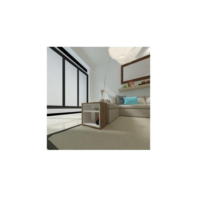 Homemania Table Basse Mia Porte-Revues, Livres - avec Étagères - pour Salon, Canapé - Wengé, Blanc en Bois, 45 x 30 x 45 cm