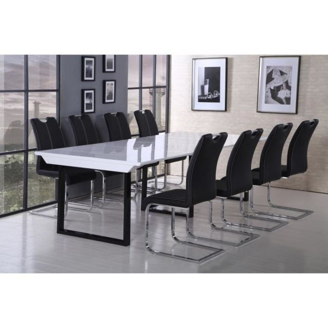 Aucune Back Table Console Extensible 120x50 250cm Noir Et