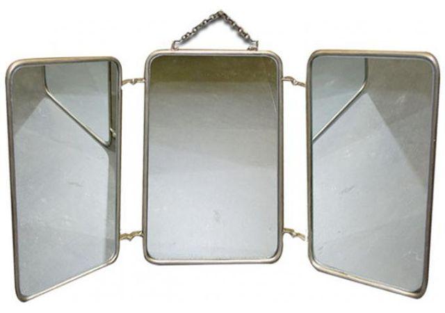 Declikdeco - Miroir Triptyque Style Vintage 60x32 Barbire - pas cher ...