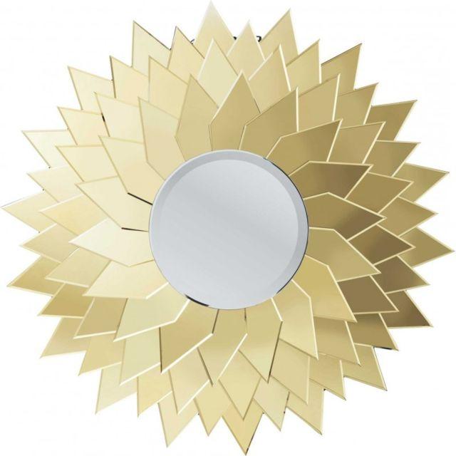 Karedesign miroir sunflower rond 120cm kare design or - Espejo coche bebe carrefour ...