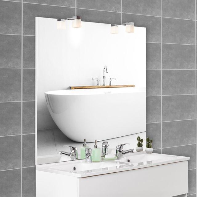 CREAZUR Miroir avec applique MIRCOLINE - 140 cm + appliques