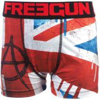 Freegun - Sous vêtement boxer England noir/rge boxer jr Noir 20484