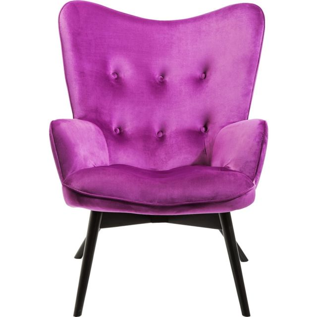 Karedesign Fauteuil Vicky velours violet Kare Design