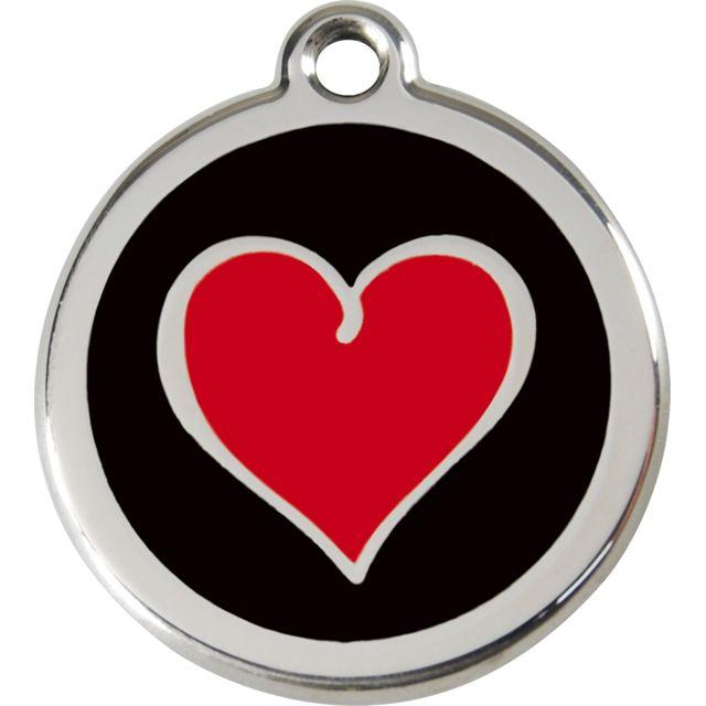 Les Animaux De La Fee Médaille Chien Red Dingo Coeur Noir 30mm