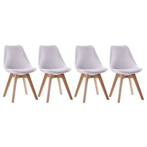 Happy garden lot de 4 chaises scandinaves nora blanches for Chaises scandinaves blanches