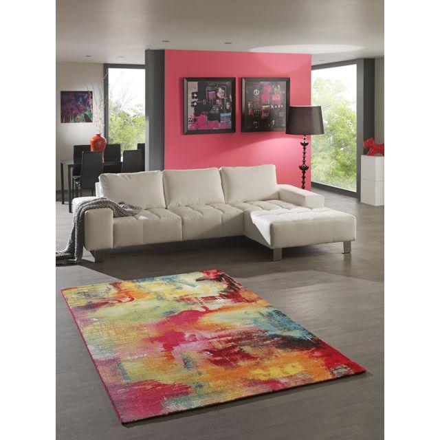 Tapis Moderne Multicolore