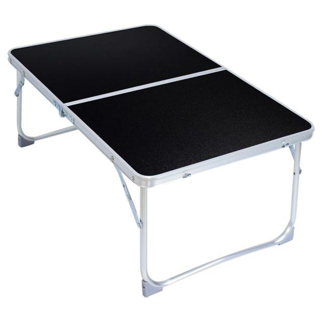 Support Dordinateur Portable Tapis En Plastique Réglable Table Pliante Ordinateur Lecture Bureau Plateau De Lit Noir