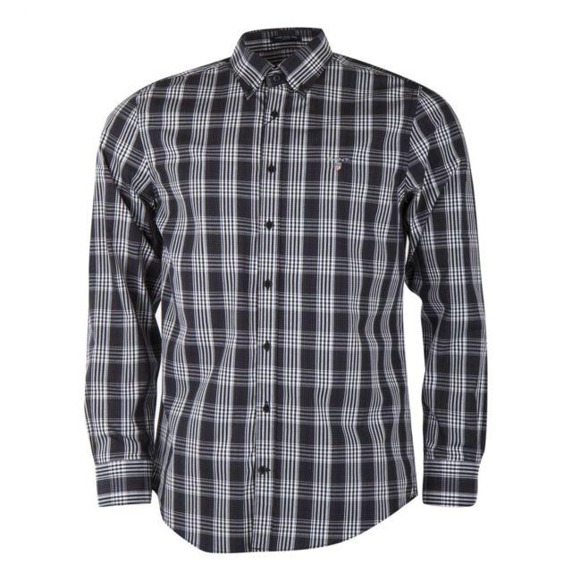 7dd9a6e4c7517 Gant - Chemise à carreaux noire et blanche homme - pas cher Achat   Vente Chemise  homme - RueDuCommerce
