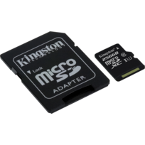 KINGSTON - 256 Go microSDXC Canvas Select 80R CL10 UHS-I Card + SD Adapter