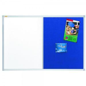 franken tableau duo bleu punaisable et blanc velleda l 120 x h 90 cm pas cher achat. Black Bedroom Furniture Sets. Home Design Ideas