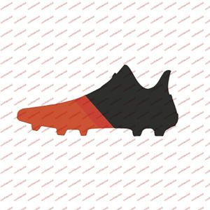 Adidas - Chaussures junior X 17.4 Indoor noir/rouge solaire/orange fluo