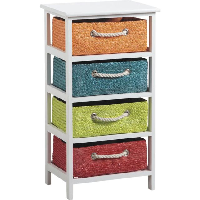 AUBRY GASPARD Commode 4 tiroirs Couleurs