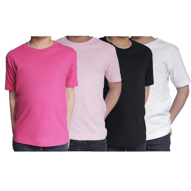 3587786c084cd Ozabi - T shirts Enfant Lot de 4 Uni Basic Couleur - Rose/Fuschia/Blanc/Noir,  Taille - 6A - pas cher Achat / Vente Tee shirt enfant - RueDuCommerce