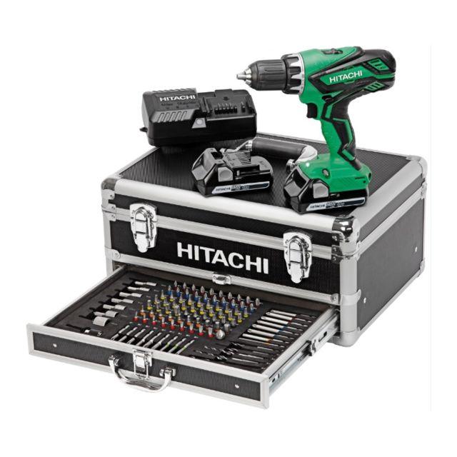 Hitachi - Perceuse visseuse 18V 2.5Ah + 2 batteries, chargeur en coffret - Kc18DJLF