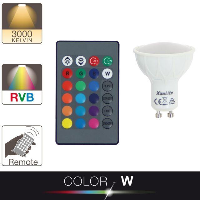 Spot Blanc Et Ampoule Led Culot Multi Gu10 Color dWxCBoQreE